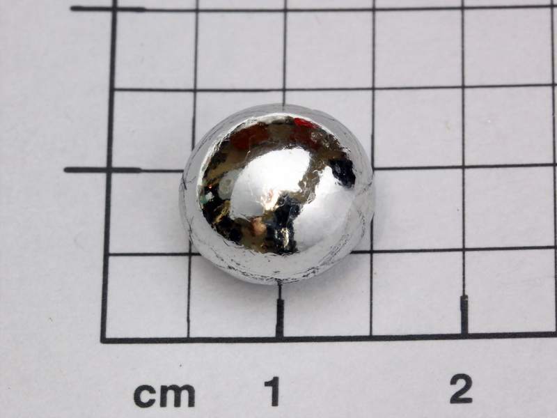Ruthenium 5.06g melted pellet, purity 99.96%