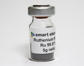 Fine ruthenium metal powder, 99.97% purity –  5 grams