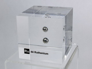 Acrylic Element-block Ruthenium Ru - 50mm