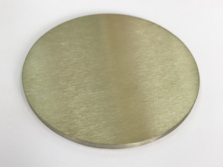 Pure scandium metal target Ø50 x 3mm 99.99% purity