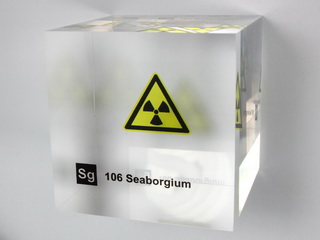 Acrylic Element cube - Seaborgium - 50mm