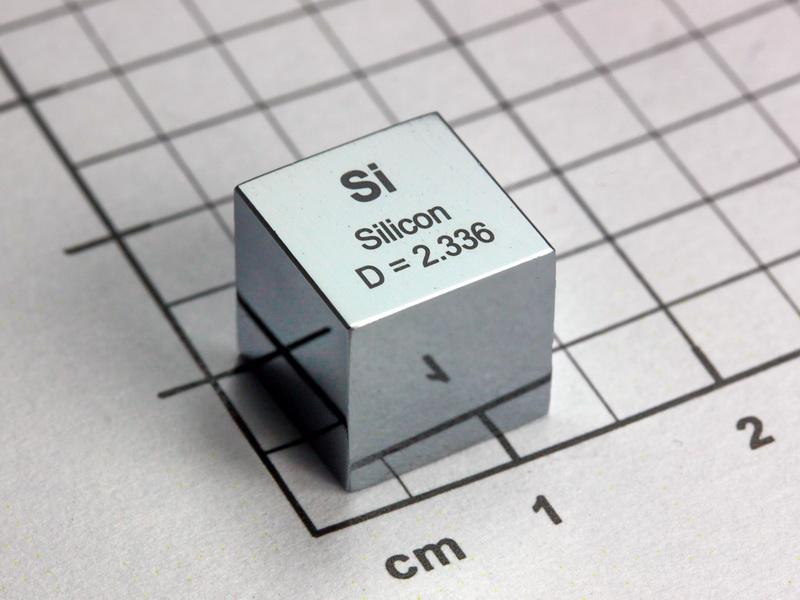 Silicon – precision density cube 10mm – 2.33g