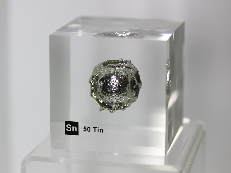 Acrylic Element cube – Tin Sn – 50mm