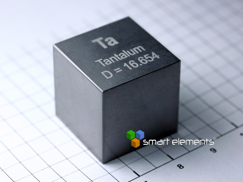 Tantalum – big density-standard cube 10 cm3 ~ 169 grams