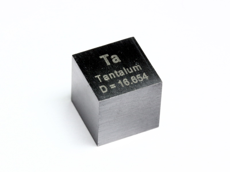 Tantalum – precision density-standard cube 10mm – 16.7g