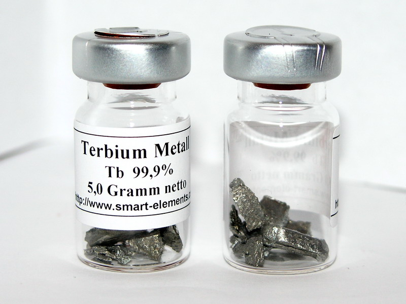 Terbium Metal in sealed vial under Argon