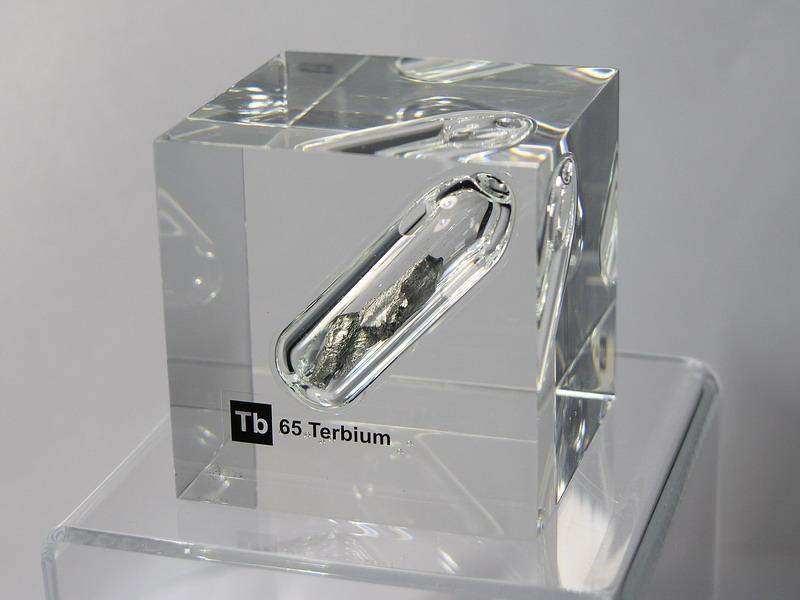 Acrylic Element cube – Terbium Tb – 50mm
