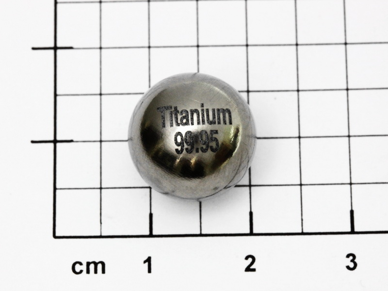 Titanium sphere 99.95% purity – ? 1/2 inch –