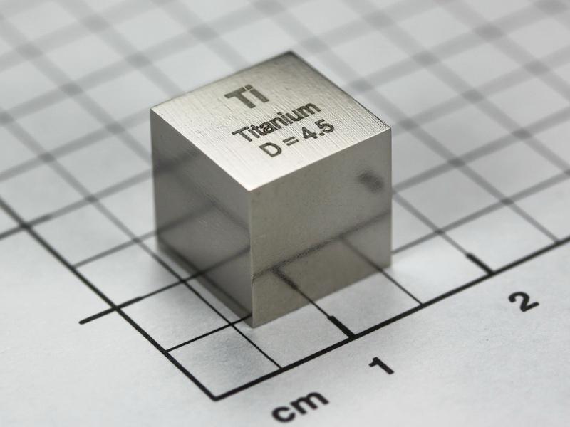 Titanium – precision density-standard cube 1cm3 4.5 grams