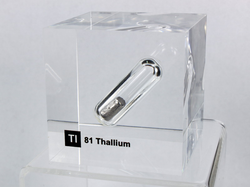 Acrylic Element cube – Thallium Tl – 50mm