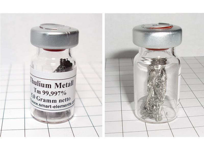 Thulium Metal 99,99% purity in sealed vial under Argon