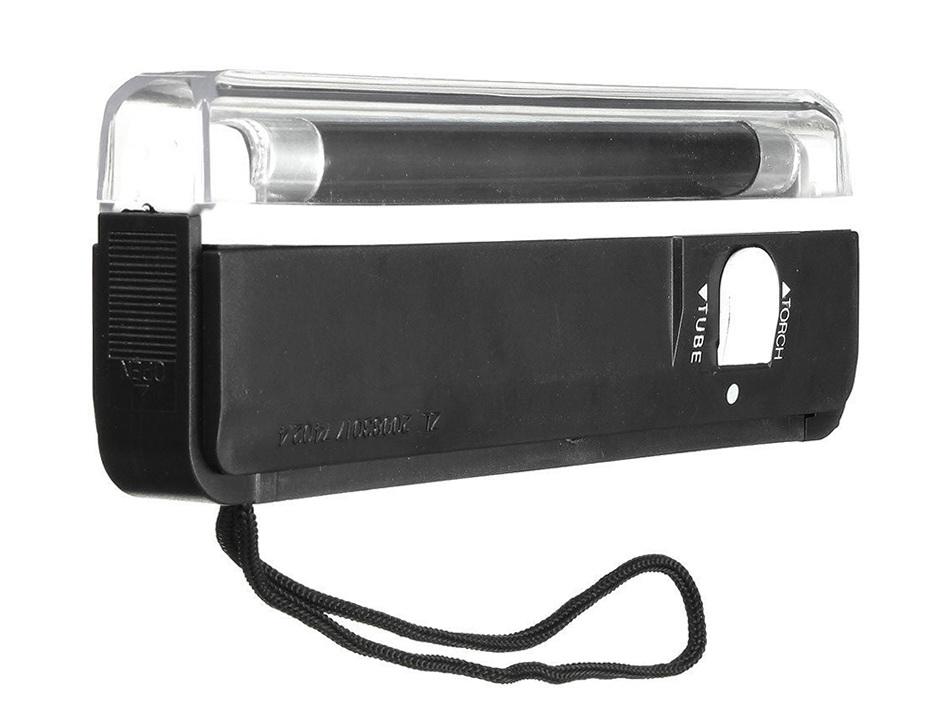 UV – Lampe with black light tube 365nm + Mini Flashlight