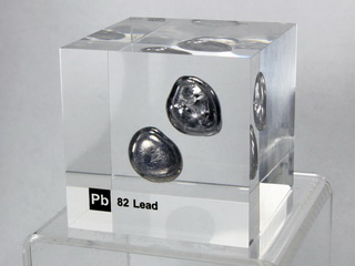 smart-elements - Acrylic Element cube - Lead Pb - 50mm