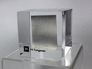 Acrylic Element cube - Tungsten W - 50mm