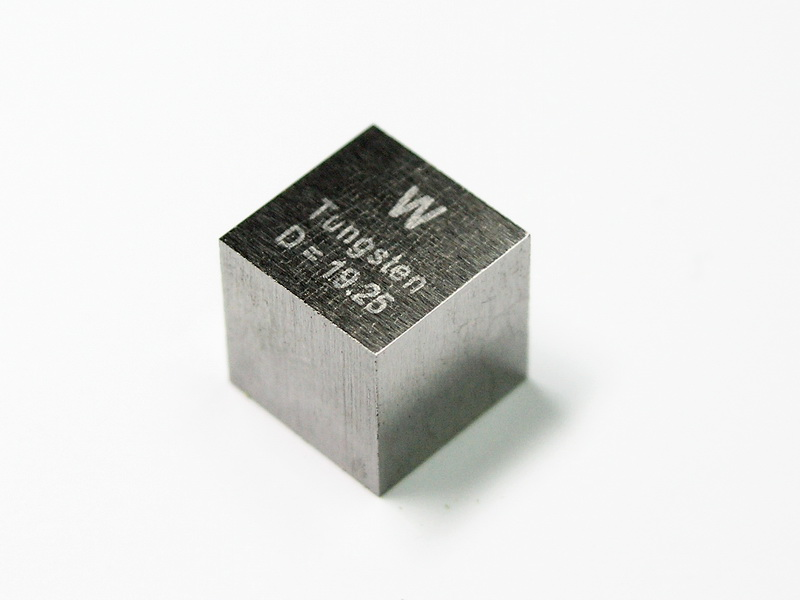 TUNGSTEN precision density cube 10mm – 19.25g