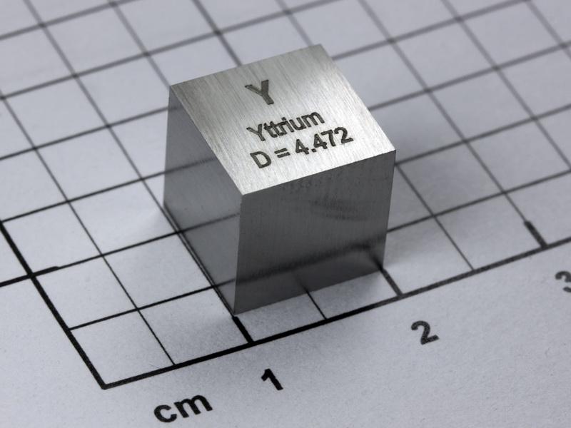 Yttrium high precision density-standard cube 10mm – 4.47g
