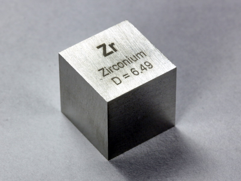 ZIRCONIUM precision density cube 10mm – 6.49g