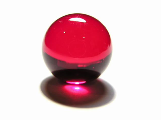 Ruby ball / lense 16mm diameter with optical polish